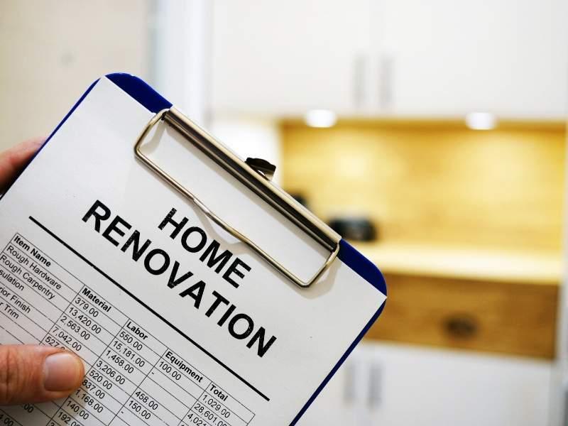Home renovation mortgage loan