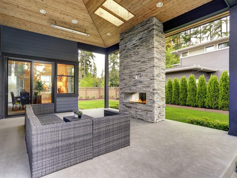 Winter Patio with Fireplace for Heat