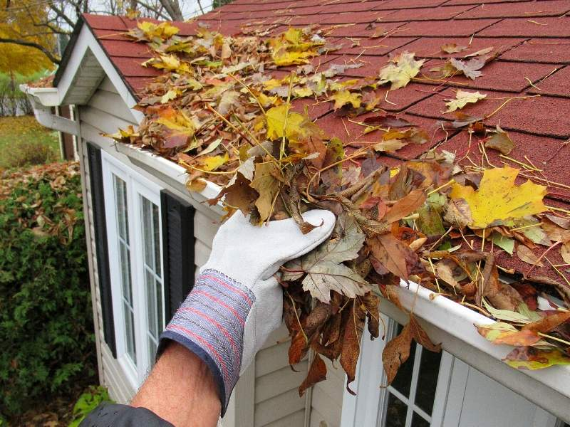Clean the gutters to winter-proof the home.