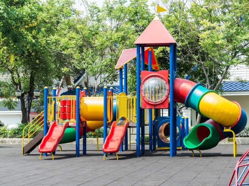 Clean and Safe Parks and Playgrounds in a Child-friendly Neighborhood