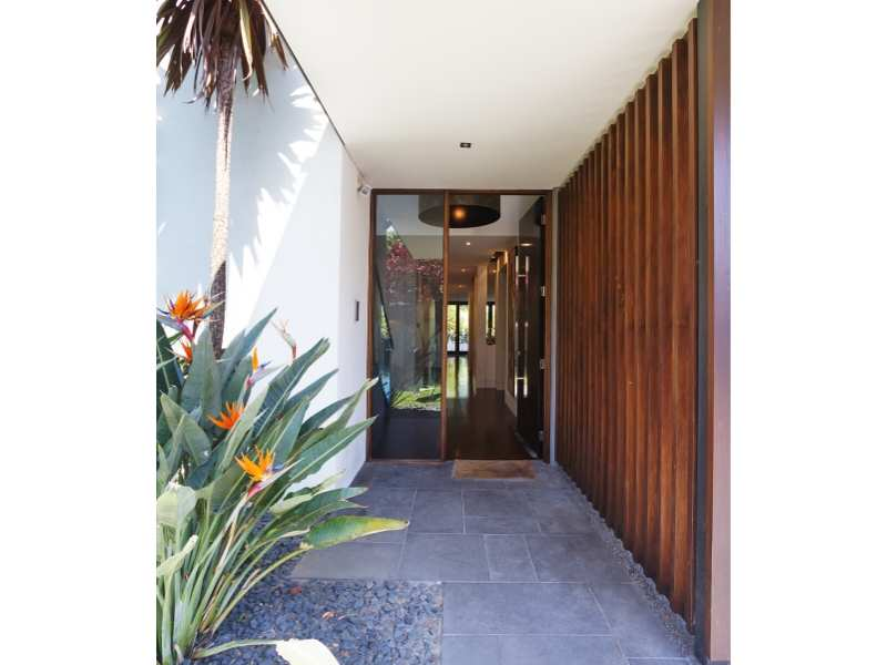 Foyers; entry way and front door of contemporary home
