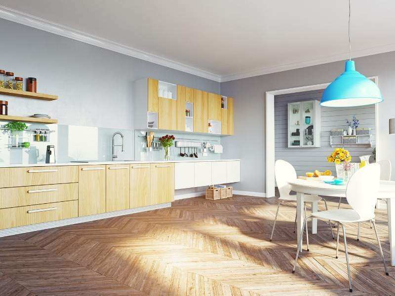 Efficient Modern Kitchen Color Scheme