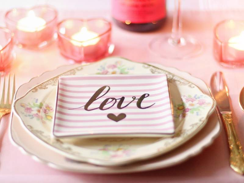 Vintage China and Pink Hearts