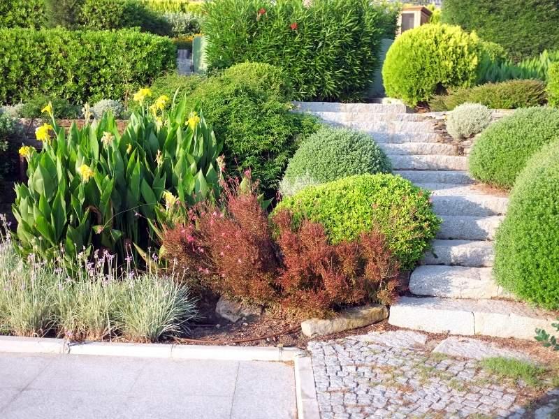 Garden and landscape aggregate granite path