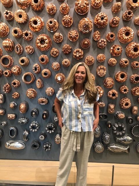 Amazing wall display of food molds with Patricia