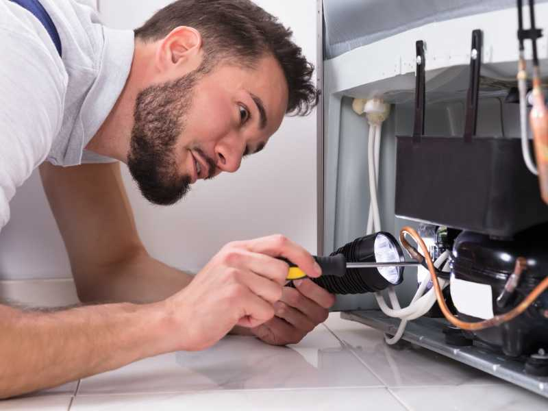 Appliance repair for refrigerator