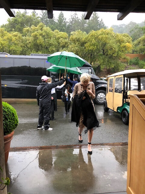 Signature Kitchen Series Coming off the bus in the rain