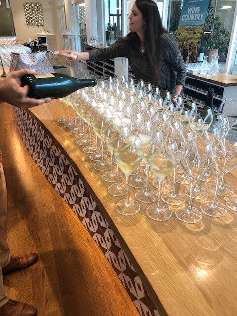 Signature Kitchen Series Wine stemware on counter