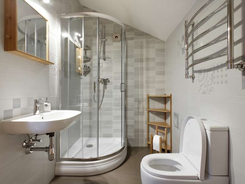 Spacious Small Bathroom Think Light and Bright