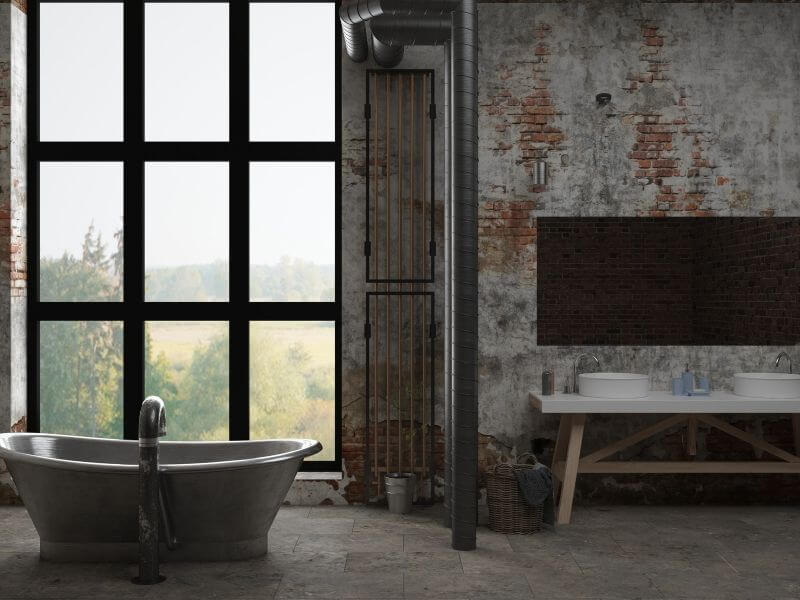 Bathroom renovation industrial style