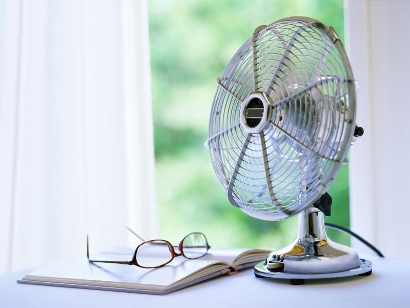 Electric fan to keep house cool