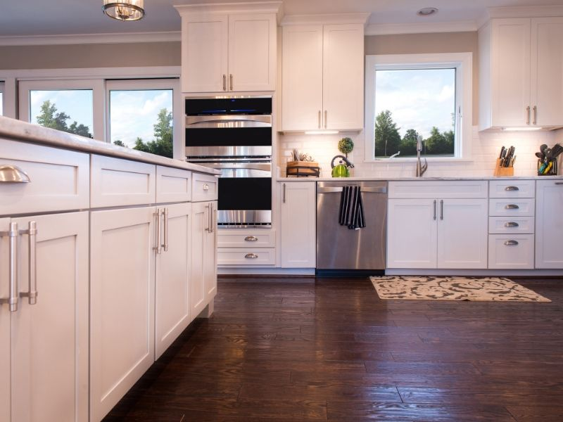 Light toned kitchen cabinets to keep your house cool.