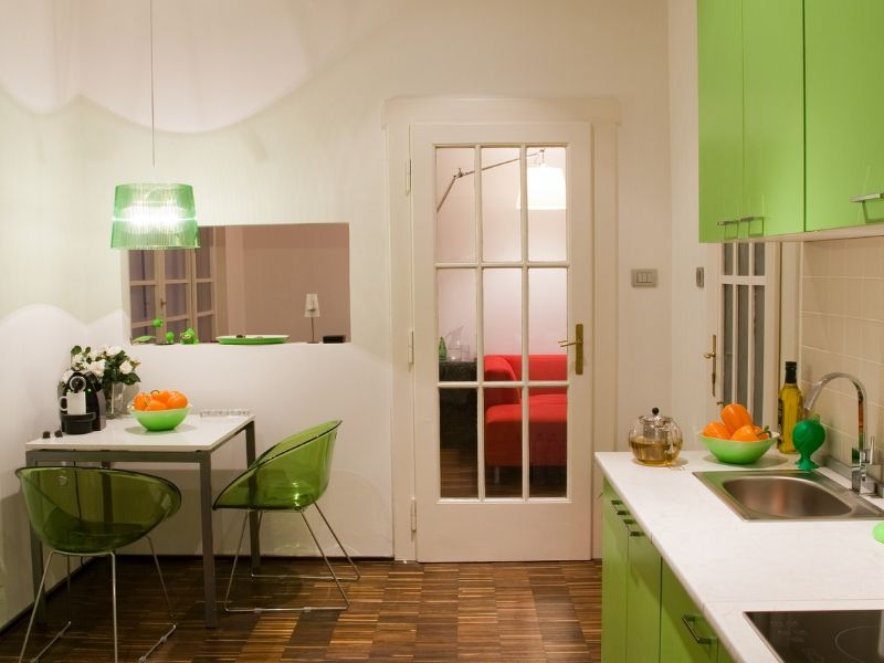 Snappy Color Kitchen Combos White and Summer Green
