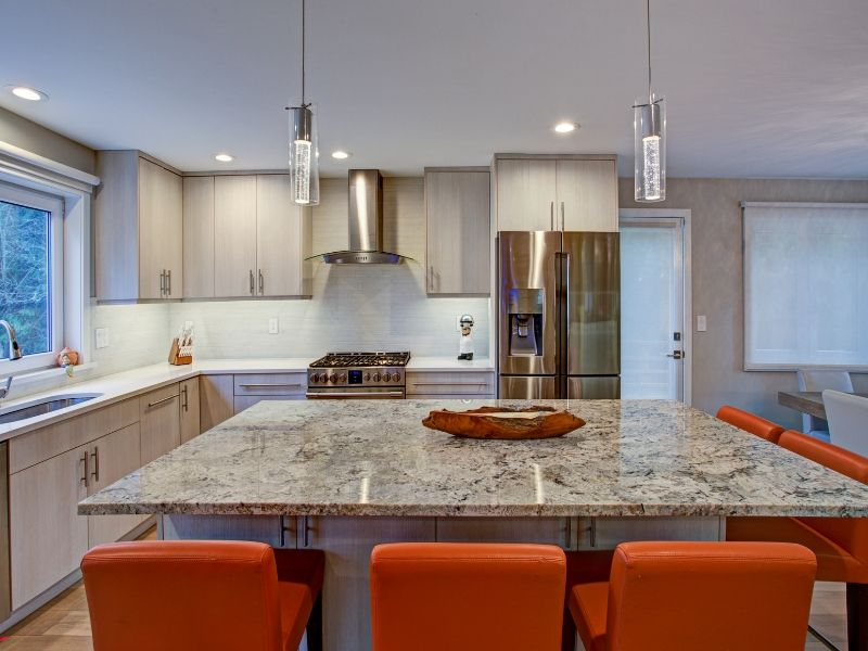 Snappy Color Kitchen Combos White and Burnt Orange
