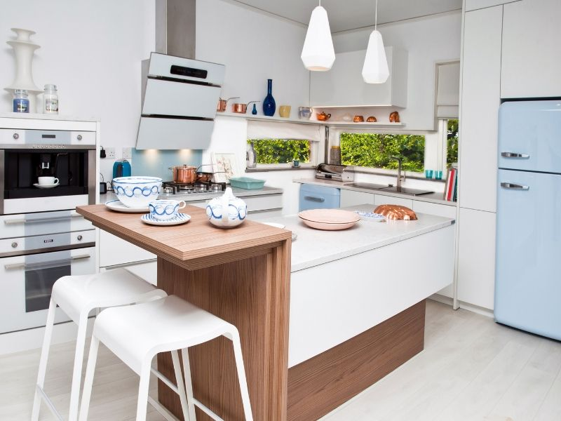 Snappy Color Kitchen Combos White and Blue
