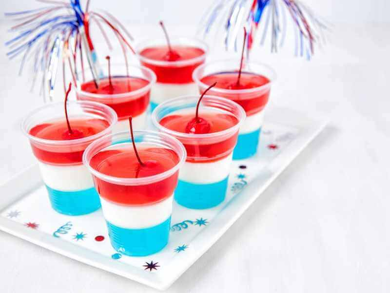 Jello Parfait 4th of July Delicious Treats