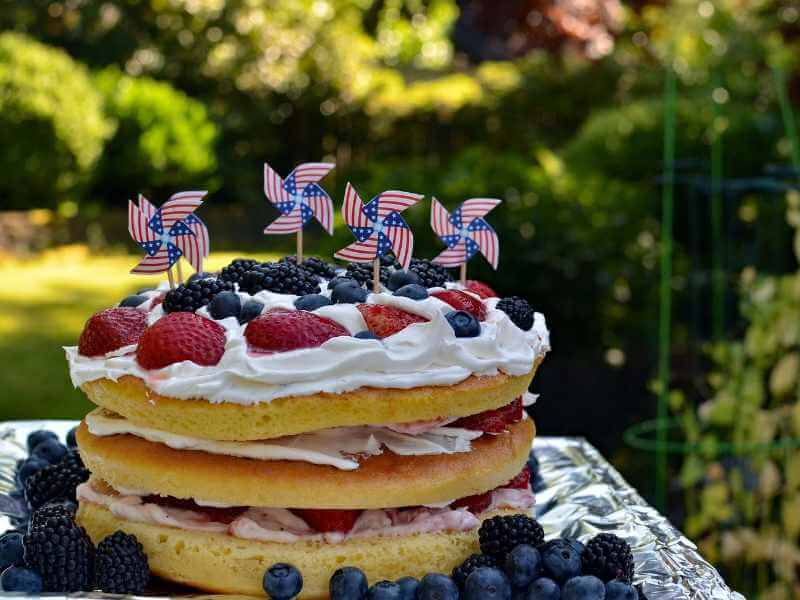 Cake Bring on the Red, White, and Blue for 4th of July Delicious Treats