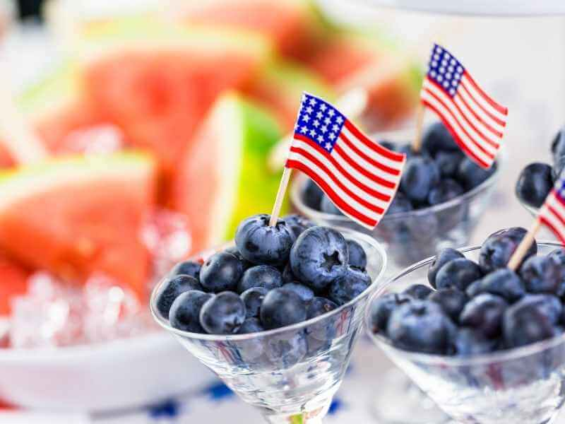 Blueberries 4th of July Delicious Treats
