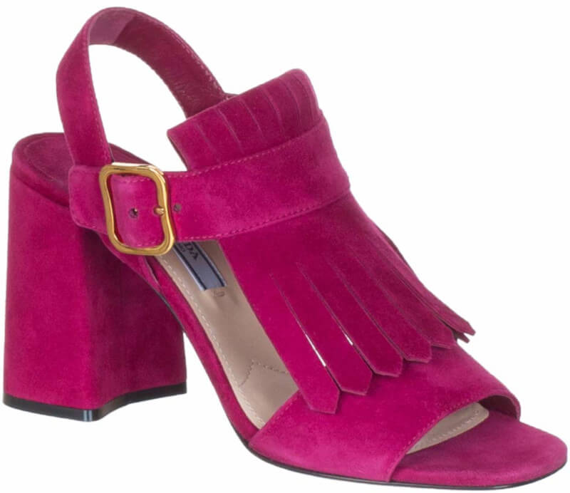 Prada Fuchsia Suede Sandals Styles of Shoes