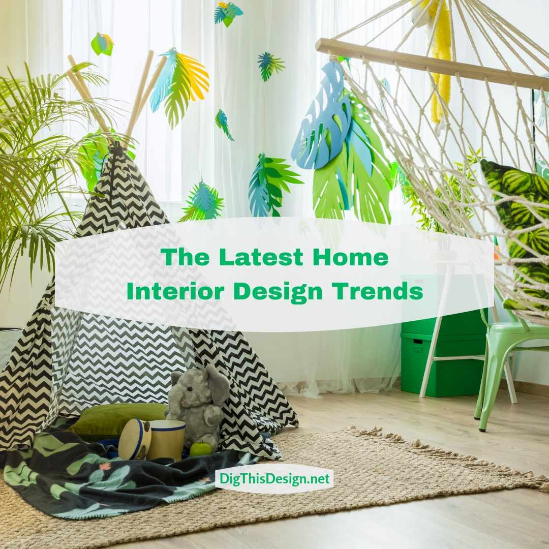 The Latest Home Interior Design Trends Cover Image with Greenery in Children's room
