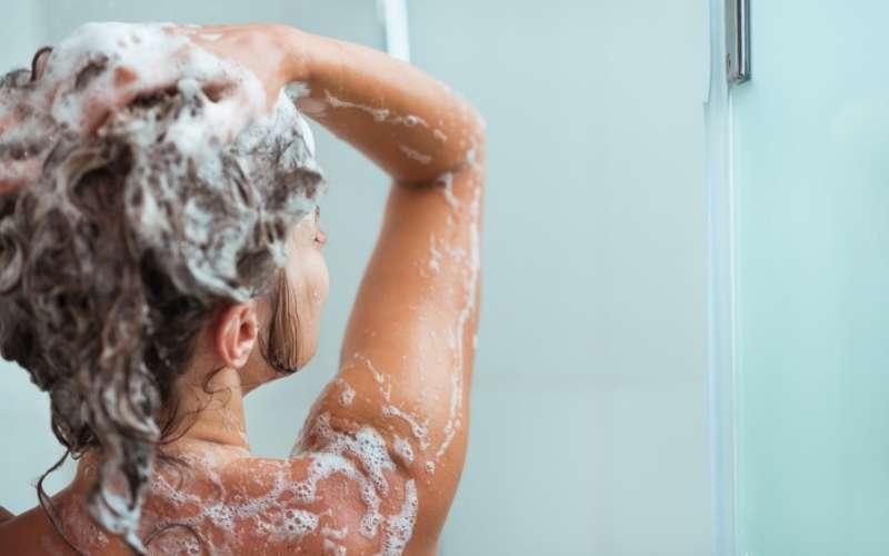 Water Heater Woman Showering