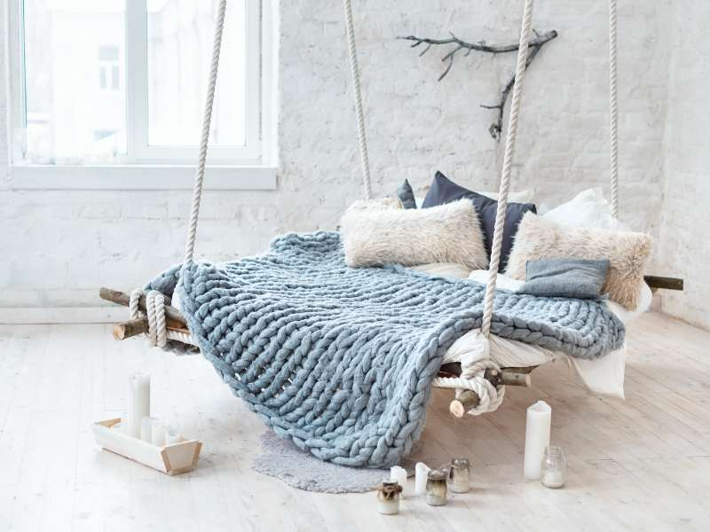 Rope Bed Comfort Touches for a Cozier Interior