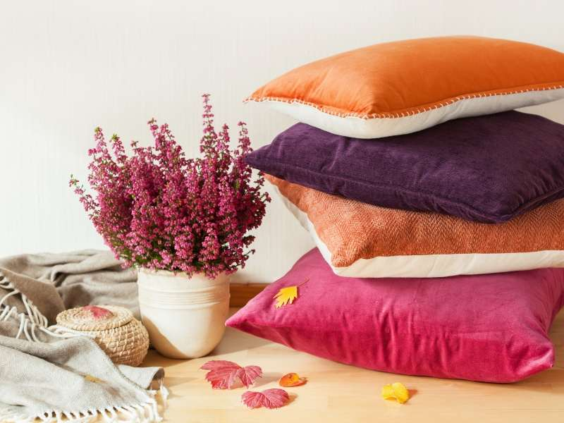 Throw Pillows Enhance with Pops of Color