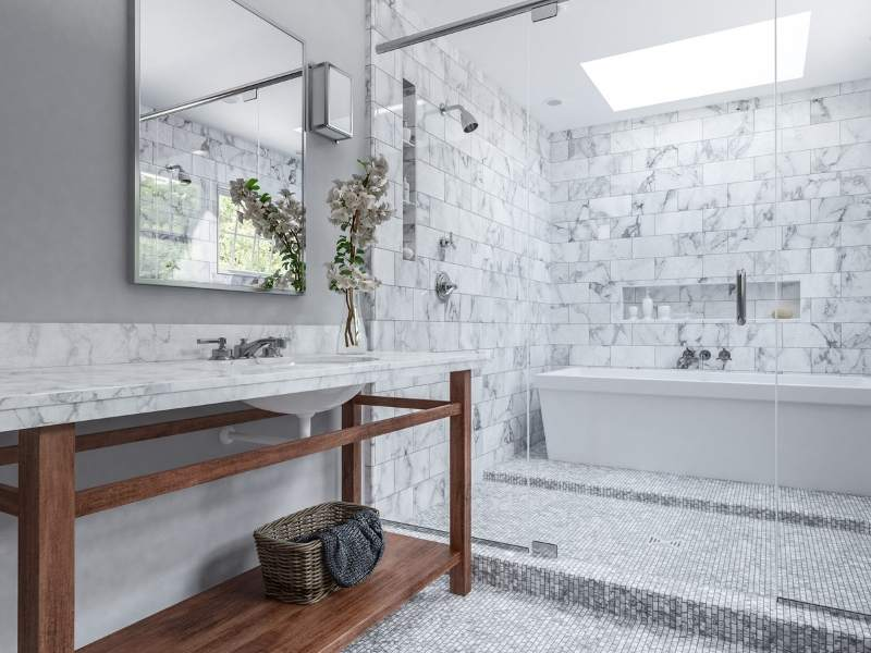 Wet Rooms with Glass Enclosure