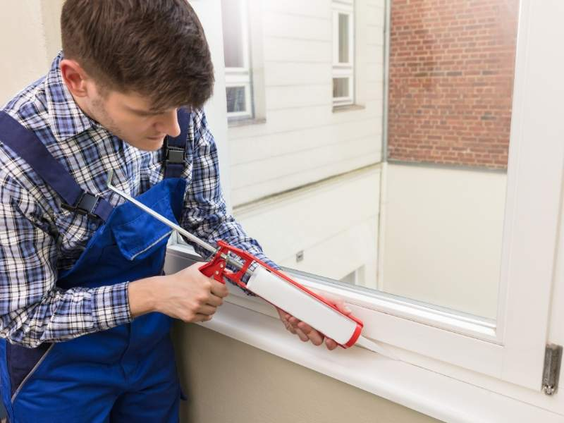 Seal and Caulk Windows and Doors for Winter