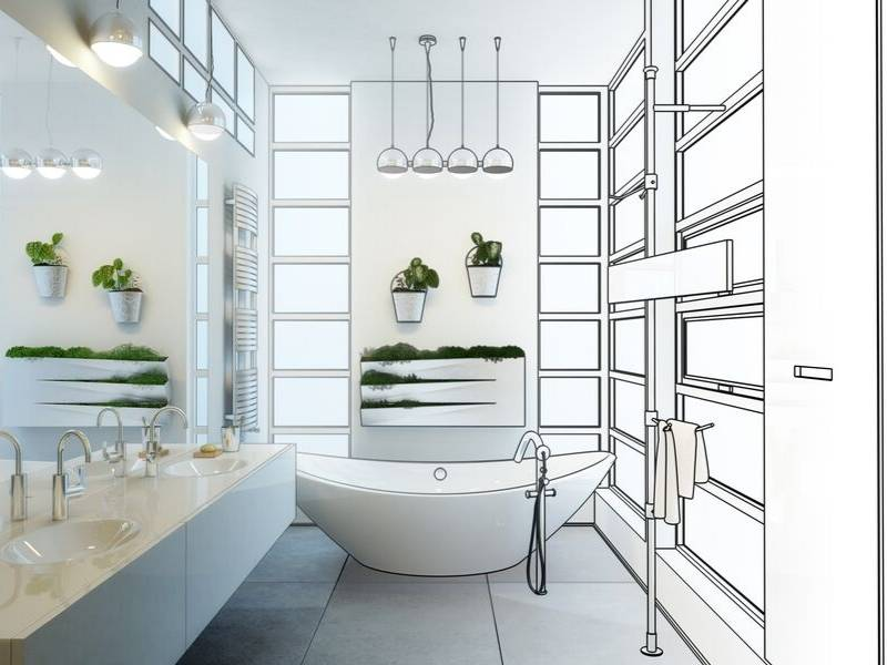 Architectural Visualizations for the Bathroom