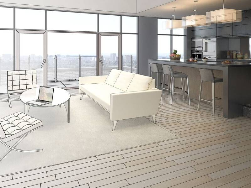 Architectural Visualizations for the Living Room