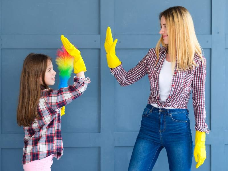 Involve the children in household deep-cleaning
