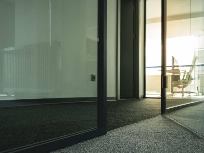 Unframed or Framed Glass Doors for Your Office