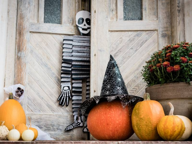 Halloween Decor Themes at the Front Door