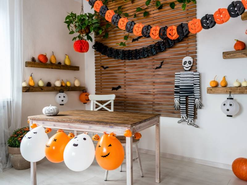 Halloween Decor Themes in the Dining Area or Office