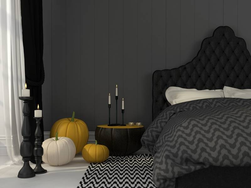 Halloween Decor Themes in the Bedroom