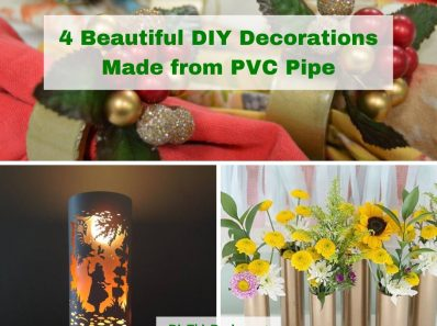 4 Beautiful DIY Decorations Made from PVC Pipe
