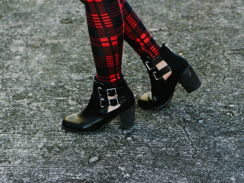 Wear block heels during the winter for safety