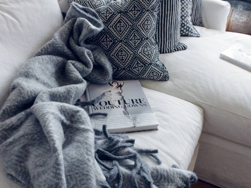 Home Makeover with New Cushions and a Throw
