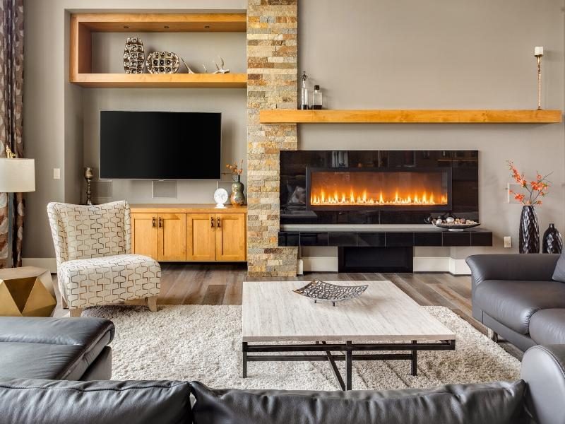 Fireplace for a luxurious look and feel