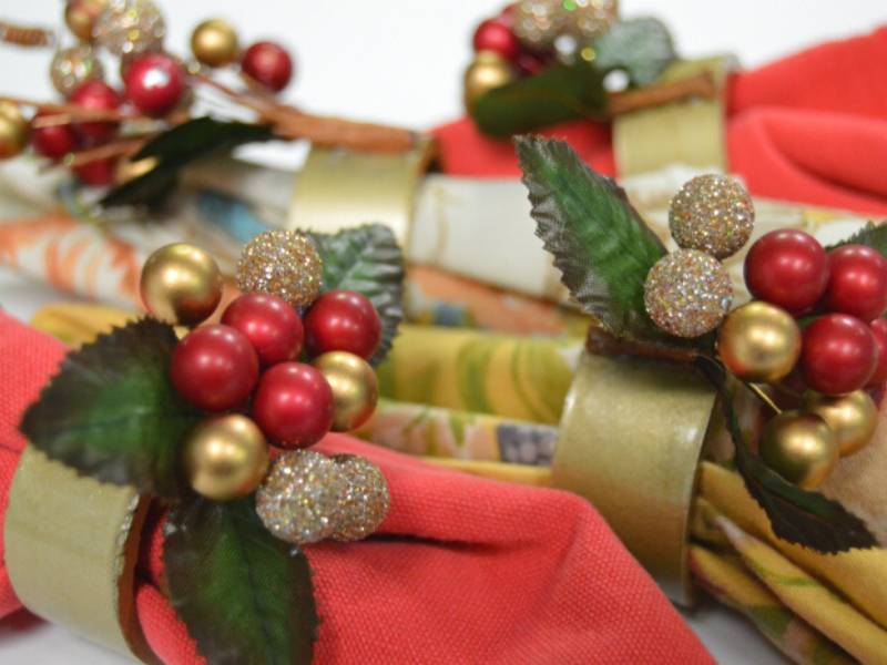 Holiday Napkin Rings from PVC Pipe