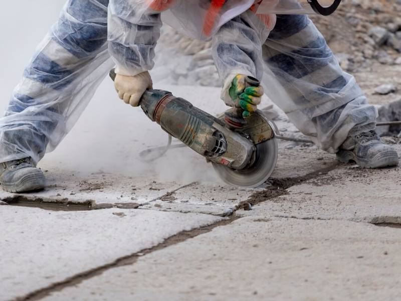 Breaking up Concrete with Power Tool