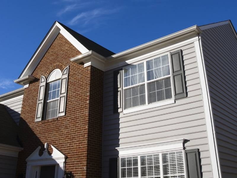Home with Brick and Vinyl Siding