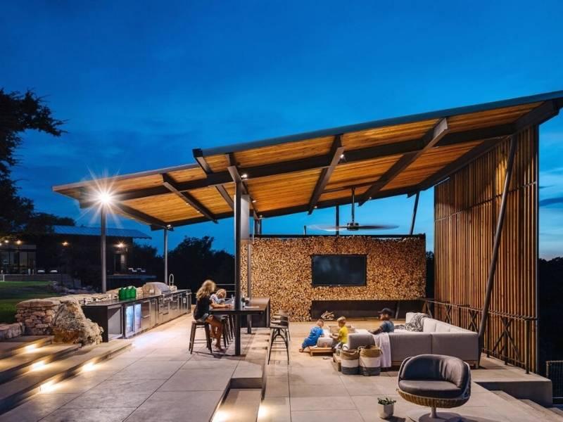 Texas Ranch Outdoor Patio Design