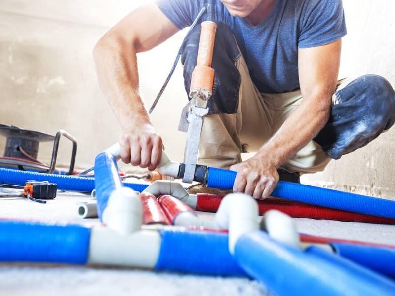 Plumbing Contractor at Work