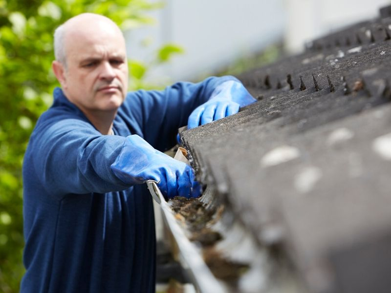 Cleaning Winter Gutters