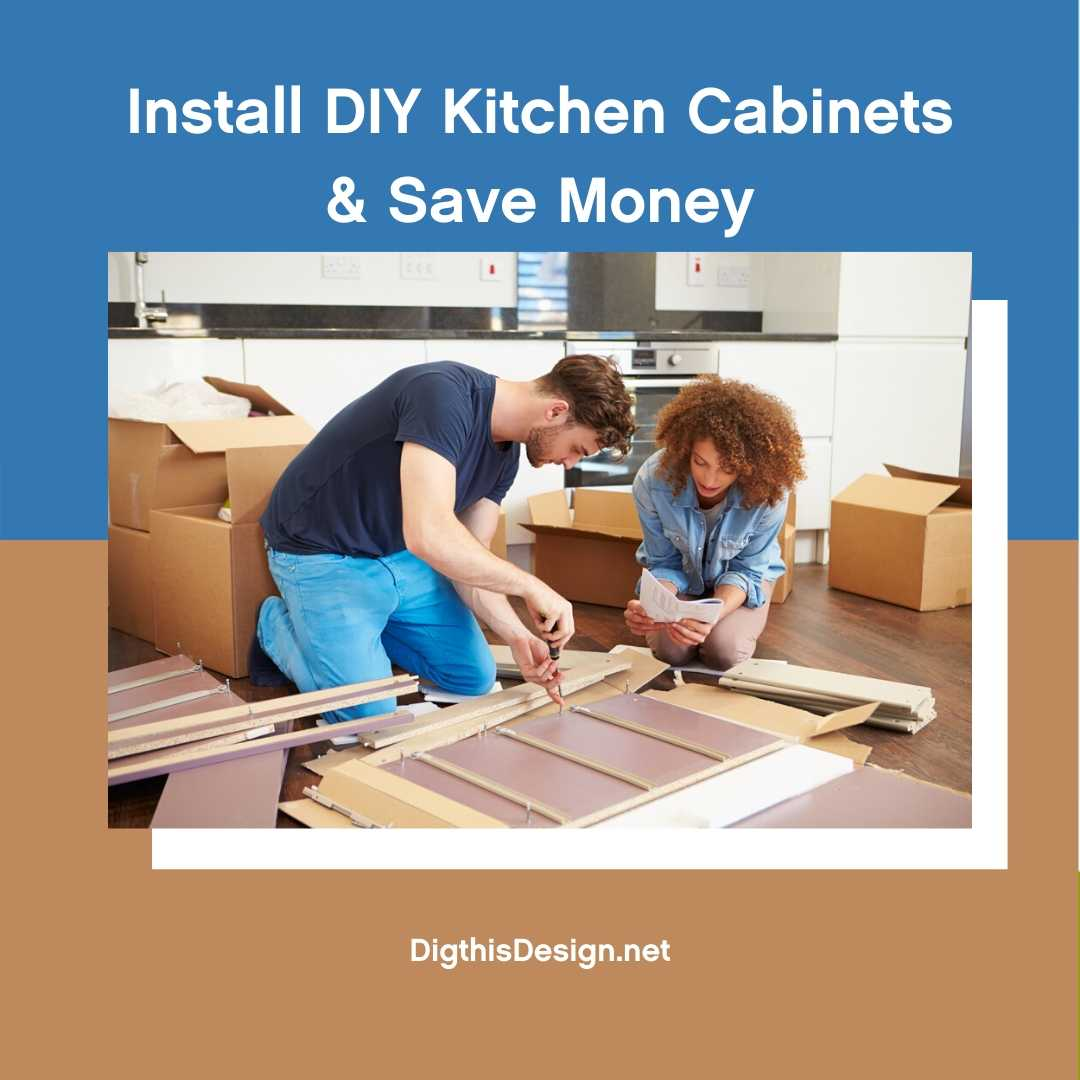 Install DIY Kitchen Cabinets