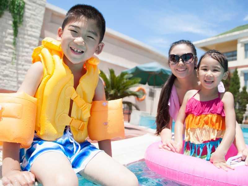Swimming Pool Family at Play