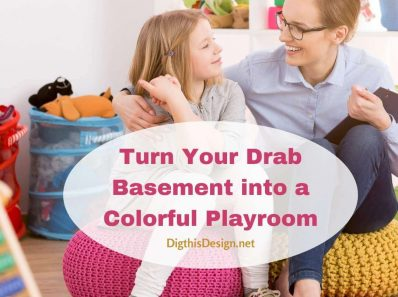 Turn Your Drab Basement into a Colorful Playroom