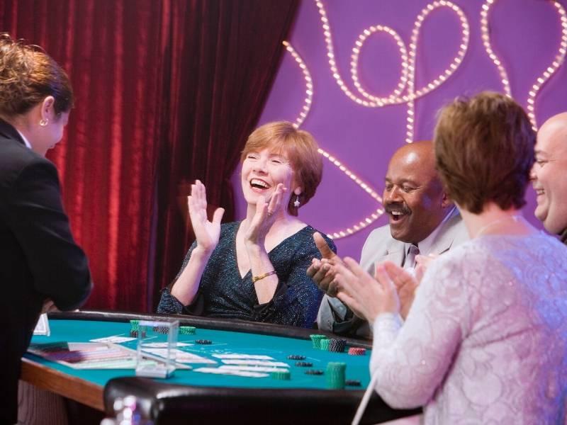 Gaming at a casino